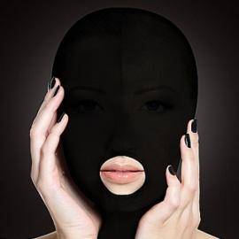スパンデックス製ダーク全頭マスク